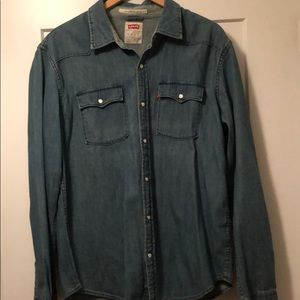 Men's Levi's Jean shirt, never worn, size XL.
